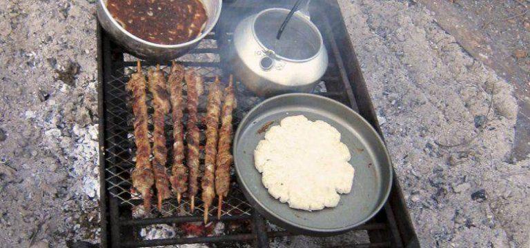 Bannock Brot auf dem Grill